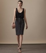 REISS TAMMI SUEDE SKIRT CHARCOAL / pencil skirts