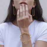 Glenda Lopez The Empty Signet Bracelet | 18kt gold dipped silver statement bracelets