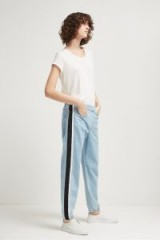 French Connection THEO DENIM TRACK PANTS – bleach blue joggers