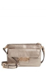 TOMMY BAHAMA KATERINI LEATHER CROSSBODY WALLET in Pewter | small metallic bags