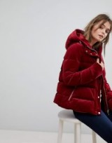 Tommy Hilfiger Red Hooded Padded Jacket ~ warm and stylish winter jackets