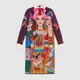 GUCCI Unskilled Worker silk dress ~ bold print dresses