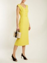 DOLCE & GABBANA Yellow V-neck cady dress ~ spring/summer dresses