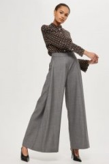 Topshop Wide Leg Trousers by Boutique / grey extreme flares