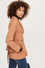 Topshop Wrap Tie Blazer – tie back jackets – individual style blazers