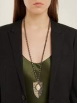 ELIE TOP Yellow-gold, onyx & diamond pendant necklace ~ statement pendants ~ long necklaces