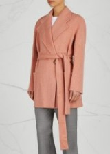 ACNE STUDIOS Anyka rose wool and cashmere blend coat