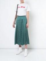 ALEXA CHUNG high-waisted polka skirt   green spot print midi skirts