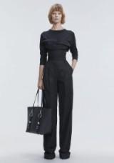 ALEXANDER WANG DECONSTRUCTED POPLIN JUMPSUIT | black contemporary style jumpsuits