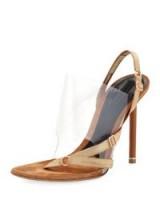 Alexander Wang Kaia Slingback Transparent Sandal ~ clear PVC sandals