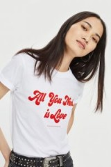 And Finally 'All You Need Is Love' Slogan T-Shirt / white tees
