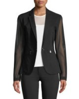 Anatomie Kleo Blazer with Sheer Sleeves & Back ~ chic black jackets