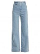 KATHARINE HAMNETT Anita high-rise wide-leg jeans ~ light-blur denim