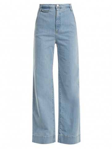 KATHARINE HAMNETT Anita high-rise wide-leg jeans ~ light-blur denim