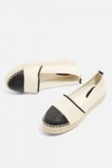 Topshop Archie Espadrille Shoes | monochrome espadrilles