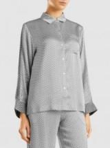 ASCENO Printed Sandwashed Silk-Satin Shirt – silky pyjama inspired shirts