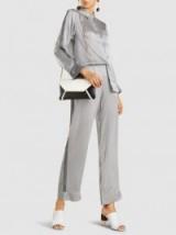 ASCENO Sandwashed Silk-Satin Wide-Leg Trousers – silky pyjama-style pants