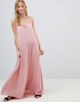 ASOS Scoop Back Maxi Dress in Crinkle Tea Rose ~ pink holiday/beach dresses