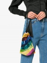 ATTICO sequin tassel rainbow bracelet bag – colourful drawstring bags