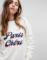BA&SH Paris Cheri Sweatshirt ~ slogan sweat tops ~ French fashion brands