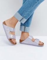 Birkenstock Arizona Lavender Magic Galaxy Flat Sandals – lilac Birkenstocks