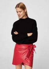 MANGO Bow wrap skirt   red skirts