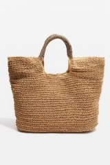topshop Brighty Straw Tote Bag. NATURAL SHOPPERS