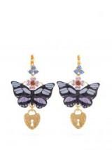 DOLCE & GABBANA Butterfly and heart-drop earrings