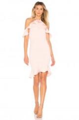 by the way. NATALIA RUFFLE HALTER DRESS – pastel-blush dresses – pink halternecks