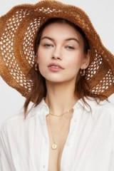 ale by Alessandra Camille Raffia Straw Hat. FLOPPY SUN HATS