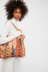 FREE PEOPLE Canyonland Tote. LARGE NATURAL FRINGED SHOULDER BAGS