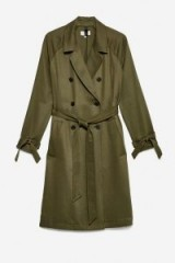 JACK WILLS CARLISS DRAPED TRENCH – olive green coats
