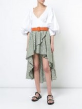 CAROLINE CONSTAS Adelle skirt / check print summer skirts / holiday style