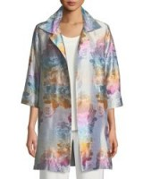 Caroline Rose Ombré Rose Jacquard Party Jacket ~ floral evening coats