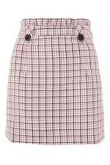 TOPSHOP Checked Frill Waist Mini Skirt / cute pink check skirts