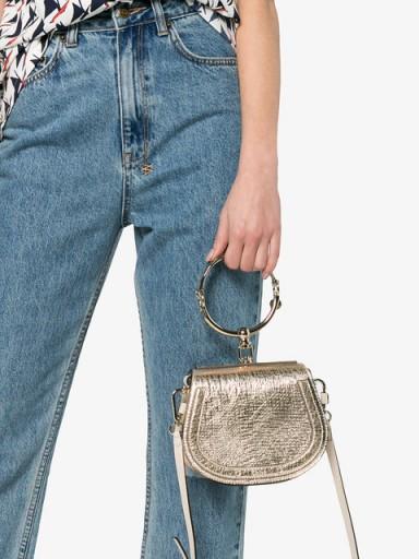 CHLOÉ Nile Bracelet Bag / small chic metallic bags