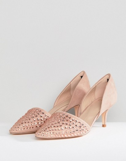 COAST Angelina Kitten Heel – blush-pink shoes