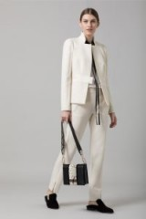 AMANDA WAKELEY CREAM SCULPTED TAILORING JACKET – neutral tailored jackets