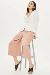 TOPSHOP Crop Wide Leg Trousers. NUDE FASHION