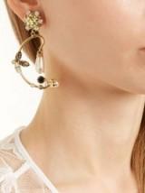 ERDEM Crystal-embellished clip-on hoop earrings ~ statement hoops