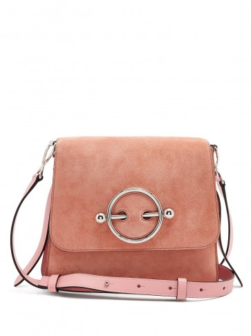 JW ANDERSON Disc small pink leather cross-body bag