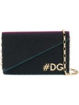 DOLCE & GABBANA Hashtag logo shoulder bag / small chic chain strap bags