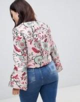 Dolly & Delicious Plus Allover Premium Embroidered Kimono Sleeve Cropped Jacket | plus size oriental style jackets