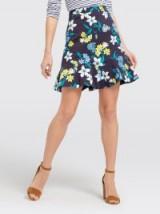 DRAPER JAMES Elliston Floral Skirt   frill hem skirts