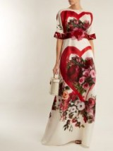 DOLCE & GABBANA Embellished rose-print silk-organza gown ~ beautiful Italian clothing ~ feminine event gowns