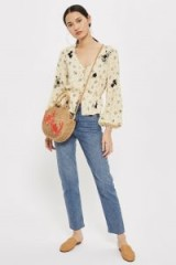 Topshop Embroidered Floral Blouse | vintage style blouses