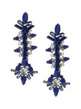 BANANA REPUBLIC Encrusted Blue Velvet Statement earrings