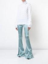 ERIC SCHLOSBERG VMA bell trousers | blue silk flares