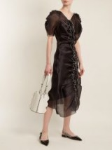 MOLLY GODDARD Erin ruffle-trimmed silk-organza dress ~ sheer gathered front dresses