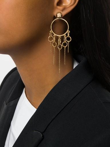 ESHVI jumping charm hoop earrings / statement hoops